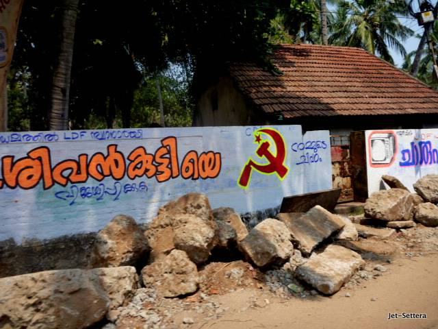 Communist Signs in Kerala - Best Places to Visit in India