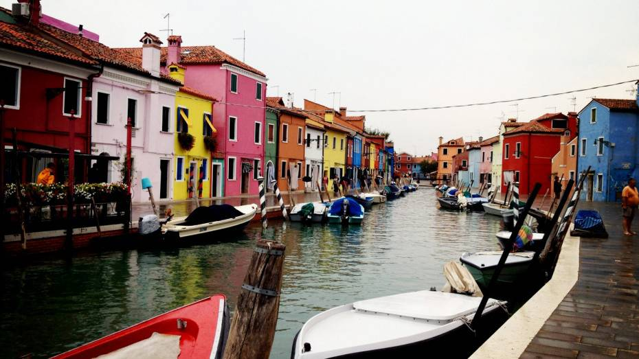Colorful Architecture in Burano Island