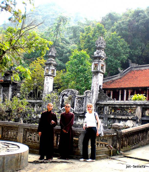 Monks by the Parfume Pagoda
