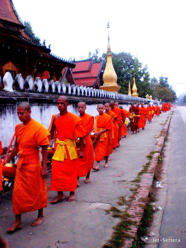 Monks Line Up For Food at 5am - Things To Do in Luang Prabang