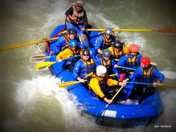 Rafting on Rio Maipo in Santiago