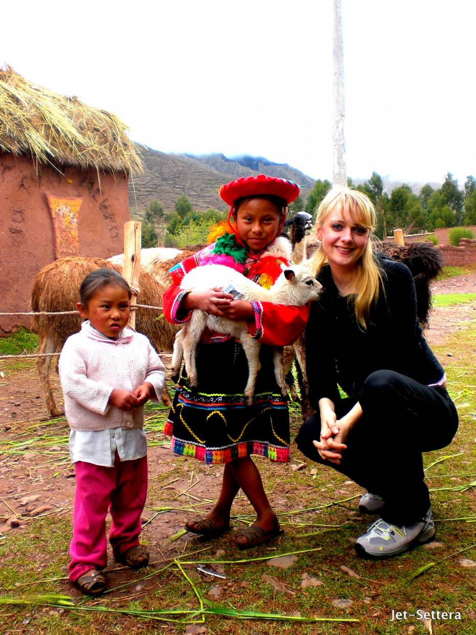 With the Local Kids in Cuzco, Peru