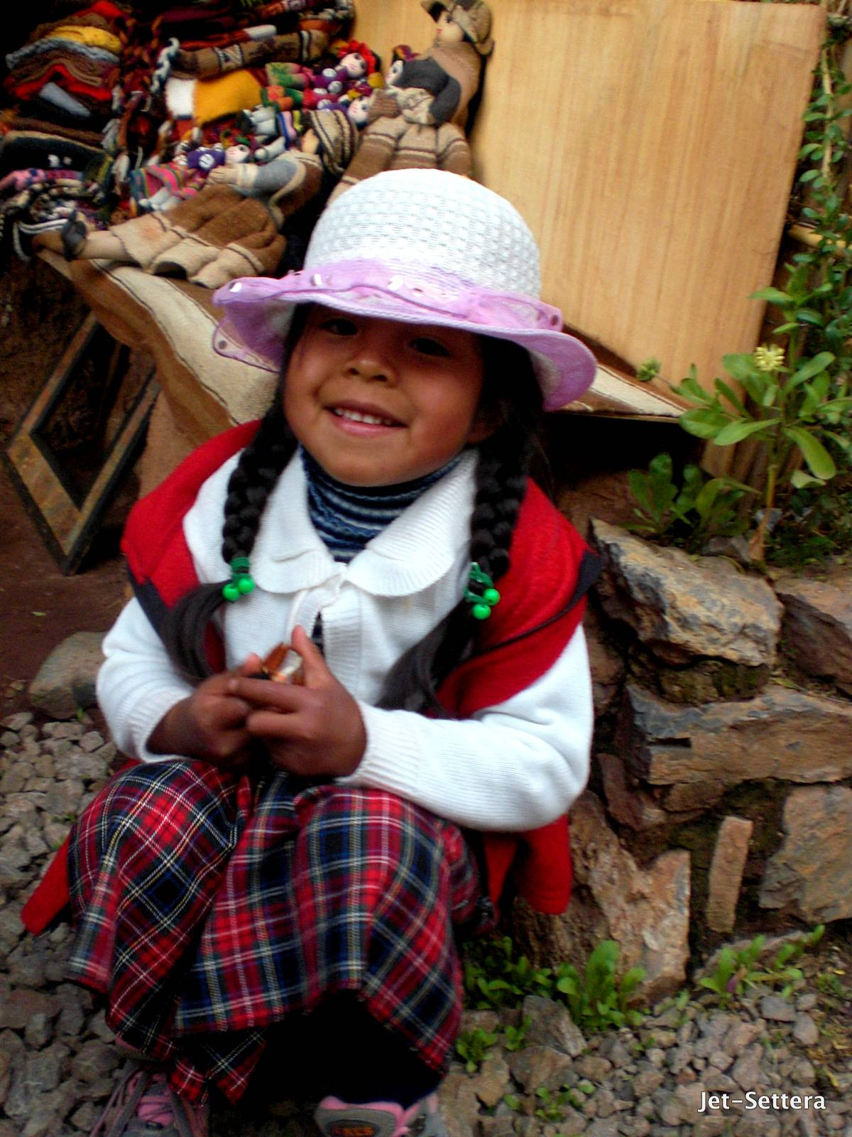 Kid on the Local Market in Puno, Peru