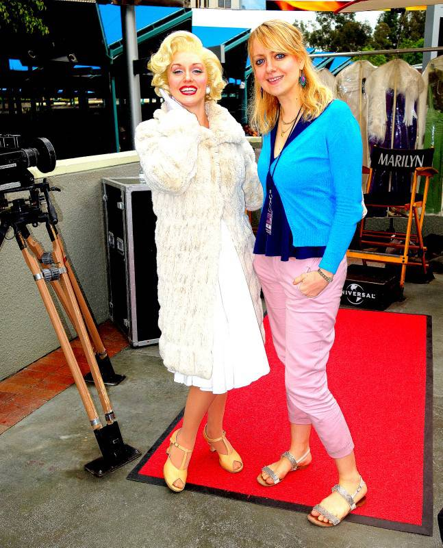 With Marilyn at Universal Studios