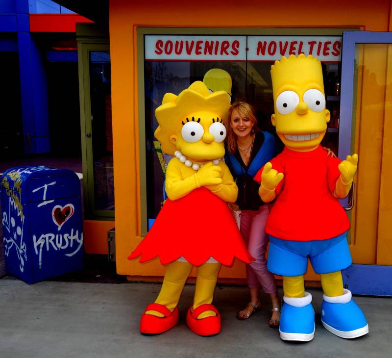 With The Simpsons in Universal Studios