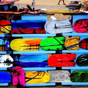 Painted Skateboards in Venice Beach