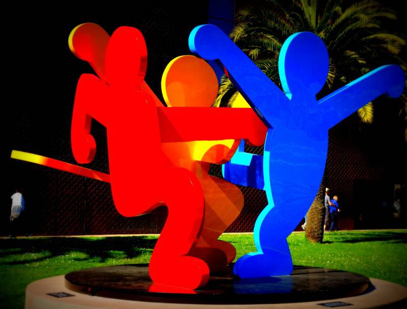 Keith Hering at the De Young Museum - San Francisco Points of Interest