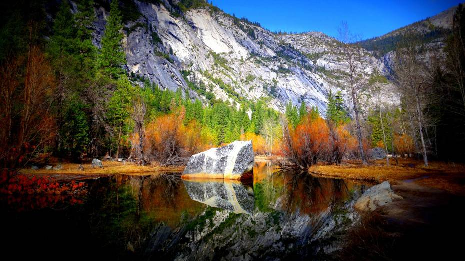 Mirror Lake at the Yosemite National Park