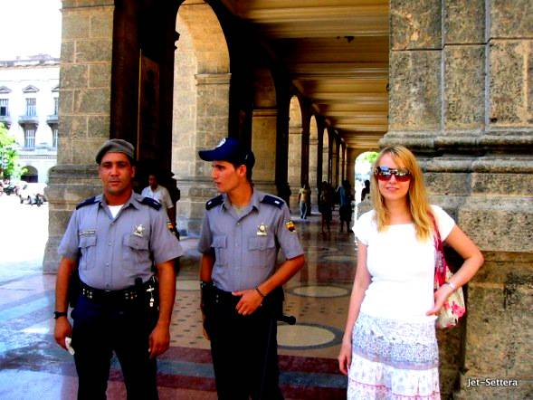 Me with the Cuban Policemen - Life in Cuba Today Compared to 10 Years Ago