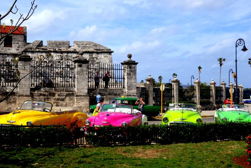 Colorful old cars of Havana, Cuba