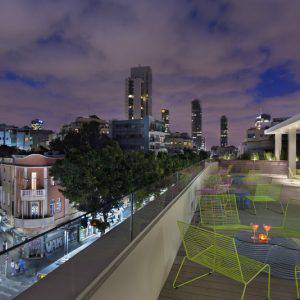 Roof deck of The Poli House - Boutique Hotel Tel Aviv