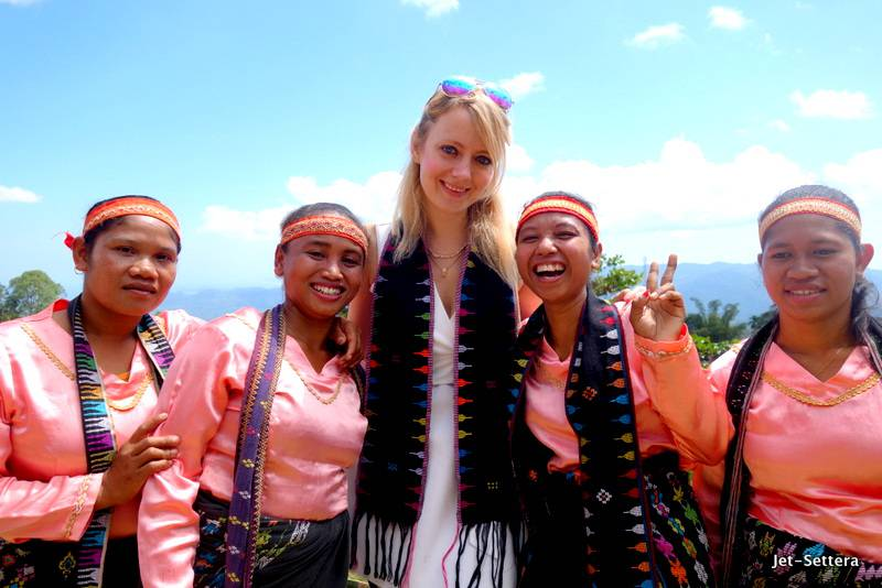 With the local Dancers at the Melo Village - Things to do in Labuan Bajo